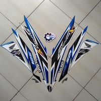 Sticker Striping Motor Honda Supra X 125 FI 2014 Hitam-Biru