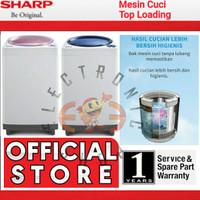 Sharp ES-M906P Mesin Cuci Top Loading 9 Kg - Esm906