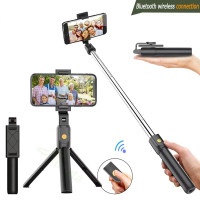 K07 2in1 TRIPOD + TONGSIS PHONE HOLDER STANDING BLUETOOTH WIRELESS