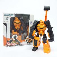 Mainan Anak Robot Mini Rocky Athlon 2 Transform Robot Excavator