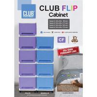 Club Flip Susun 5 Lemari Plastik Rak Serbaguna (Khusus cargo)