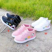 Sepatu Anak Boot Motif Print 4 Hati Hello Kitty Murah Lucu