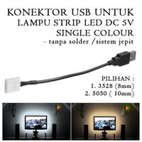 Konektor Jepit USB DC 5V for Lampu Strip LED Single Colour