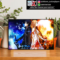 Sword Art Online - SAO (20X30cm) - Poster Kayu Super Glosy - Anime