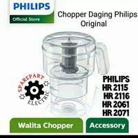 CHOPPER DAGING BLENDER PHILIPS ORIGINAL HR 2061 2071 2115 2116