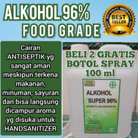 Promo Alkohol 96% 1 liter food grade Antiseptik Desinfektan