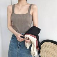 Knit Tank Top Wanita / Korean Knit Tank Top BC01