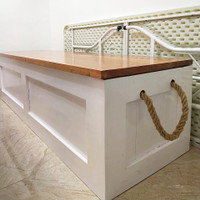 Storage Bench / Bangku / Kotak Penyimpanan bahan full kayu