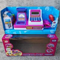 Mainan Kasir Kasiran Supermarket Cash Register Besar Baterai Anak