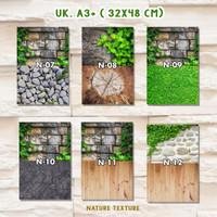Murah Alas Foto Background Produk 3D Lipat Uk A3+ Motif Alam 2