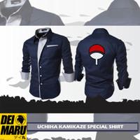 Baju Kemeja Distro Anime Jepang Naruto Uchiha Sasuke Panjang - SA 04