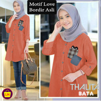 LM 15652 15655 15658 Baju Atasan JUMBO Tunik Muslim Wanita NEW THALITA