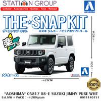 AOSHIMA 05817 #08E SNAP KIT SUZUKI JIMNY PURE WHITE PEARL 1-32