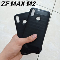SOFTCASE ASUS ZENFONE MAX M2 ZB633KL ~ SOFTCASE IPAKY CARBON ~ MA