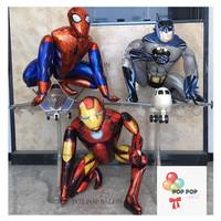 Balon Foil IRON MAN 3D bentuk/ Balon Karakter Ironman Marvel Standing