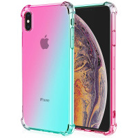 Shock Gradient Case iPhone XS Max - Rainbow Clear Cover Anti Crack Fit