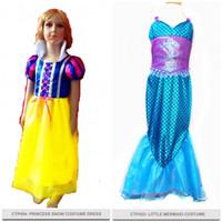 Dress Baju Costume Kostum Gaun Princess Disney snow white dan mermaid