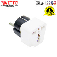Oversteker/Steker Serbaguna/Universal Plug Vetto V801 Lampu SNI