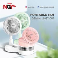 Kipas Angin Portable NAGOYA Gemini USB Rechargeable Mini Desk Fan NGY