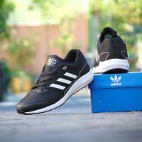 sepatu sport running pria adidas neo adiwear Grade Ori hitam putih