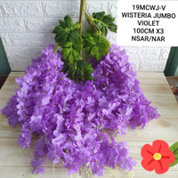 Wisteria Jumbo - 512 bunga juntai bunga rambat bunga juntai artificial