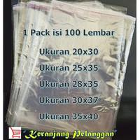 Plastik opp lem/plastik baju/plastik sandal tebal 0.4 micron ISI 100 L