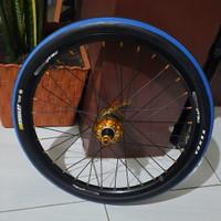 Ban Sepeda kenda 20 x 1.35 Strip Biru mirip kojak cst