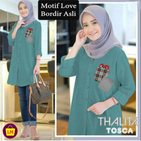 LM 15652 15655 15658 Baju Atasan JUMBO Tunik Muslim Wanita NEW THALITA - Tosca, XL