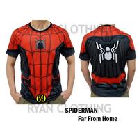 Baju Spiderman Dewasa Kaos Superhero Full Printing 3D #FPS-69