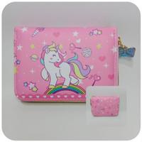 Dompet Anak Perempuan Karakter LOL Unicorn Pdk 13cm Fashion Anak Impor