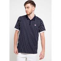 FILA Drammatica Baju T-Shirt Sports Style Pria - Navy