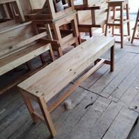 bangku kayu panjang 120x30x45