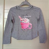 baju kaos adem lengan panjang lucu unicorn cocoa justice original