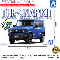 AOSHIMA 05778 #08C SNAP KIT SUZUKI JIMNY BROSK BLUE METALLIC 1-32