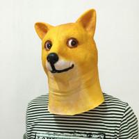 TOL-18 topeng latex karet full head mainan prank anjing annoying dog