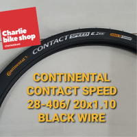 Ban Luar CONTINENTAL Contact Speed 20x1.10 28-406 Black Wire 010138700