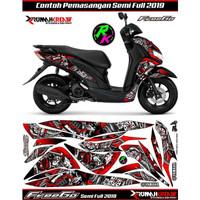 Sticker List Striping Decal Motor Freego Semifull Body