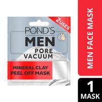 Pond'S Men Pore Vacuum Peel Of Mask 12Ml - Masker Wajah Pria 2X Pakai