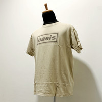 Official T-shirt Oasis - Kaos Brown Logo Size L Import