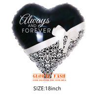 balon foil always and forever / balon hati wedding / balon valentine