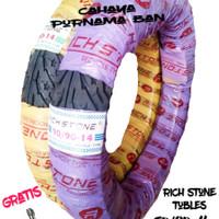 PAKET 2 BAN LUAR RICHSTONE TUBLES + PENTIL UK 80/90-14 & 90/90-14