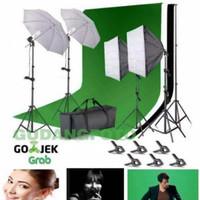 Paket Lampu Sorot dan Background Studio foto Fotografi FR07