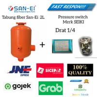 Tabung Otomatis Pompa Air Fiber Komplit Shimizu Wasser Sanyo Panasonic