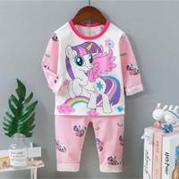 Piyama import / Baju tidur anak cewek Unicorn umur 1 - 10 tahun.