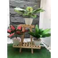 Rak Pot Bunga kayu minimalis