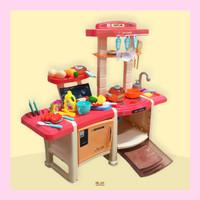 Mainan Masak-masakan Kompor Lampu Suara Keluar Asap Kitchen Set