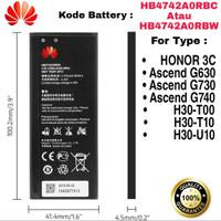 Baterai Honor 3C Ascend G730 G630 G740 HB4742A0RBW Original