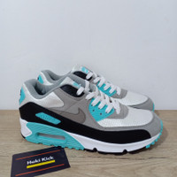 Sepatu Nike Air Max 90 Hyper Turquoise Particle Grey Blue Tosca