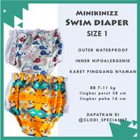 ORIGINAL Minikinizz Swim Diaper 7-11 kg/ Baju Celana Renang Anak Bayi