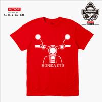 Kaos Baju Motor Honda C70 Bektu Siluet Kaos Otomotif - Karimake